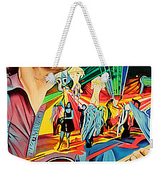 Weekender Tote Bag featuring the painting Keith Moseley At Horning's Hideout by Joshua Morton