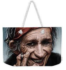 Keith Richards Weekender Tote Bag by Andre Koekemoer