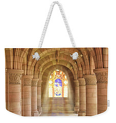 Kelso Abbey Stained Glass Weekender Tote Bag