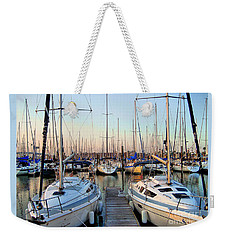 Kemah Boardwalk Marina Weekender Tote Bag by Savannah Gibbs