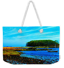 Weekender Tote Bag featuring the photograph Kennepunkport Vaughn Island  by Tom Jelen