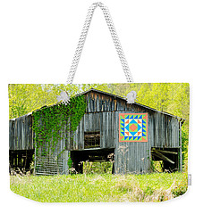 Kentucky Barn Quilt - Thunder And Lightening Weekender Tote Bag
