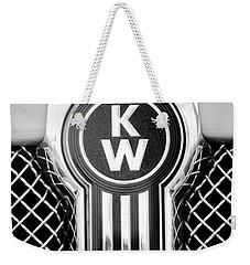 Kenworth Truck Emblem -1196bw Weekender Tote Bag