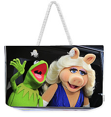 Kermit Takes Miss Piggy To The Movies Weekender Tote Bag by Nina Prommer