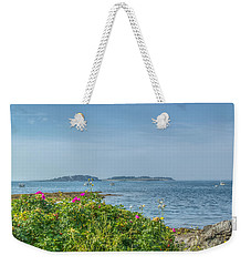 Weekender Tote Bag featuring the photograph Kettle Cove by Jane Luxton