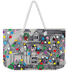 Key West Christmas Weekender Tote Bag