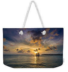 Key West Florida Sunset Mallory Square Weekender Tote Bag