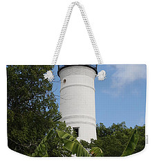Weekender Tote Bag featuring the photograph Key West Lighthouse  by Christiane Schulze Art And Photography