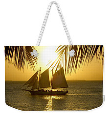 Weekender Tote Bag featuring the photograph Key West Sunset by Joan  Minchak