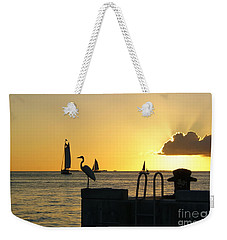 Weekender Tote Bag featuring the photograph Key West Sunset by Olga Hamilton