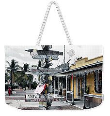 Key West Wharf Weekender Tote Bag