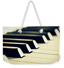 Keyboard Of A Piano Weekender Tote Bag by Chevy Fleet