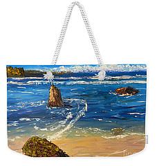 Weekender Tote Bag featuring the painting Kiama Beach by Pamela  Meredith