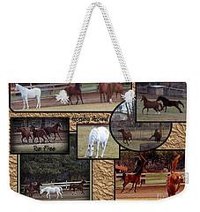 Horses Kickin It  Weekender Tote Bag by Bobbee Rickard