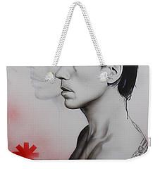 Anthony Kiedis - ' Kiedis Apache Soul ' Weekender Tote Bag by Christian Chapman Art