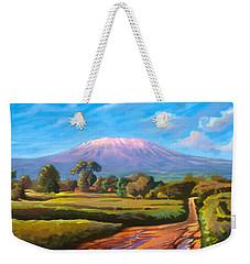 Kilimanjaro Weekender Tote Bag by Anthony Mwangi
