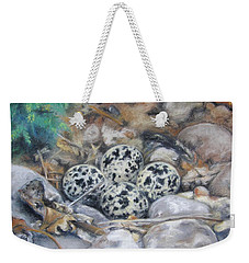 Killdeer Nest Weekender Tote Bag by Lori Brackett