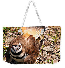 Killdeer On Its Nest Weekender Tote Bag by Chris Flees