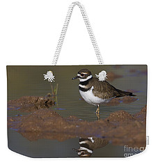 Weekender Tote Bag featuring the photograph Killdeer Reflection by Bryan Keil