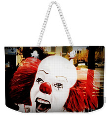 Killer Clowns On The Loose Weekender Tote Bag by Kelly Awad