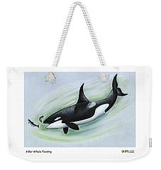 Killer Whale Feeding Weekender Tote Bag
