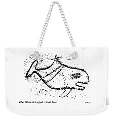 Killer Whale Petroglyph Weekender Tote Bag