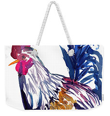 Weekender Tote Bag featuring the painting Kilohana Rooster by Marionette Taboniar