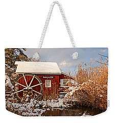 Kimberton Mill After Snow Weekender Tote Bag