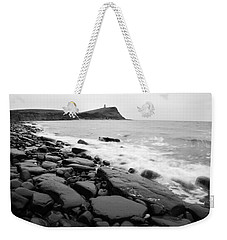 Kimmeridge Bay In Black And White Weekender Tote Bag