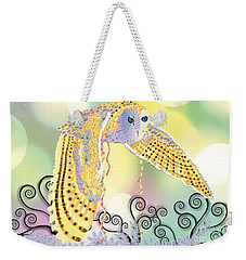 Weekender Tote Bag featuring the digital art Kindred Light Owl by Kim Prowse