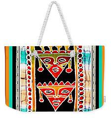 Weekender Tote Bag featuring the digital art King And Queen by Vagabond Folk Art - Virginia Vivier