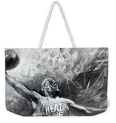 King James Lebron Weekender Tote Bag by Ylli Haruni
