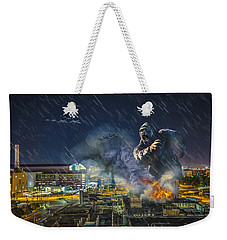 Weekender Tote Bag featuring the photograph King Kong By Ford Field by Nicholas  Grunas