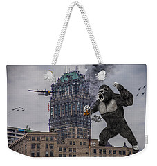 Weekender Tote Bag featuring the photograph King Kong In Detroit At Wurlitzer by Nicholas  Grunas