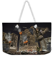 Weekender Tote Bag featuring the photograph King Kong In Detroit Westin Hotel by Nicholas  Grunas