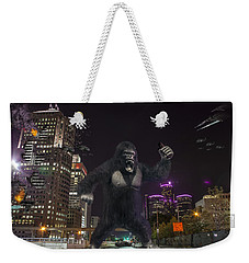 Weekender Tote Bag featuring the photograph King Kong On Jefferson St In Detroit by Nicholas  Grunas