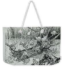 King Log, Illustration From Aesops Fables, Published By Heinemann, 1912 Engraving Weekender Tote Bag by Arthur Rackham