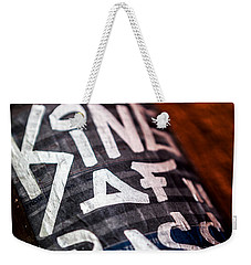 Weekender Tote Bag featuring the photograph King Of Bass by Sennie Pierson