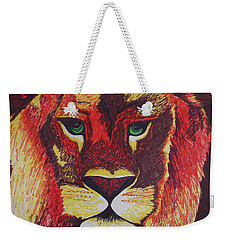 Lion In Orange Weekender Tote Bag