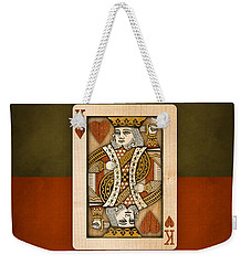 King Of Hearts In Wood Weekender Tote Bag