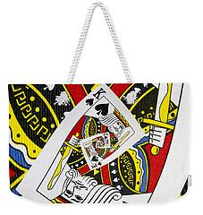 King Of Spades Collage Weekender Tote Bag