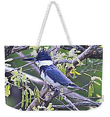 Weekender Tote Bag featuring the photograph King Of The Tree by Elizabeth Winter
