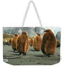 King Penguin Chicks Weekender Tote Bag by Amanda Stadther