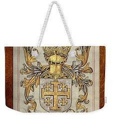 Kingdom Of Jerusalem Medieval Coat Of Arms  Weekender Tote Bag