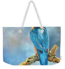 Kingfisher Weekender Tote Bag by David Stribbling