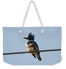Kingfisher Profile Weekender Tote Bag by Mike Dawson