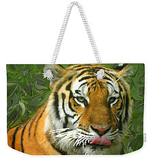 Weekender Tote Bag featuring the photograph Kisa Painted by Sandi OReilly