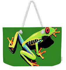 Weekender Tote Bag featuring the painting Kiss Me by Sophia Schmierer