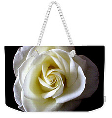 Weekender Tote Bag featuring the photograph Kiss Of A Rose by Shana Rowe Jackson