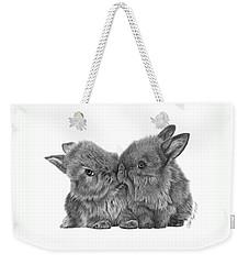 Kissing Bunnies - 035 Weekender Tote Bag by Abbey Noelle